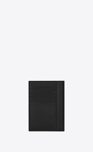 SAINT LAURENT Saint Laurent Paris SLG Man saint laurent print passport case in black leather b_V4