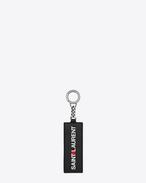 SAINT LAURENT Key Ring U saint laurent print keychain in black leather f