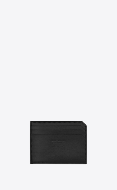 SAINT LAURENT Fragments Small Leather Goods U FRAGMENTS Credit Card Case in Black a_V4