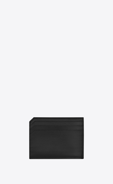 SAINT LAURENT Fragments Small Leather Goods U FRAGMENTS Credit Card Case in Black b_V4