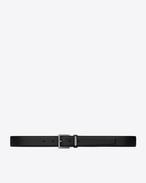 SAINT LAURENT Cinture Classiche U Cintura ID CARRÉE con fibbia nera in pelle f