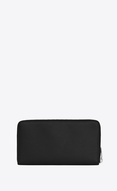 SAINT LAURENT Saint Laurent Paris SLG Man saint laurent paris zip around wallet in black textured leather b_V4