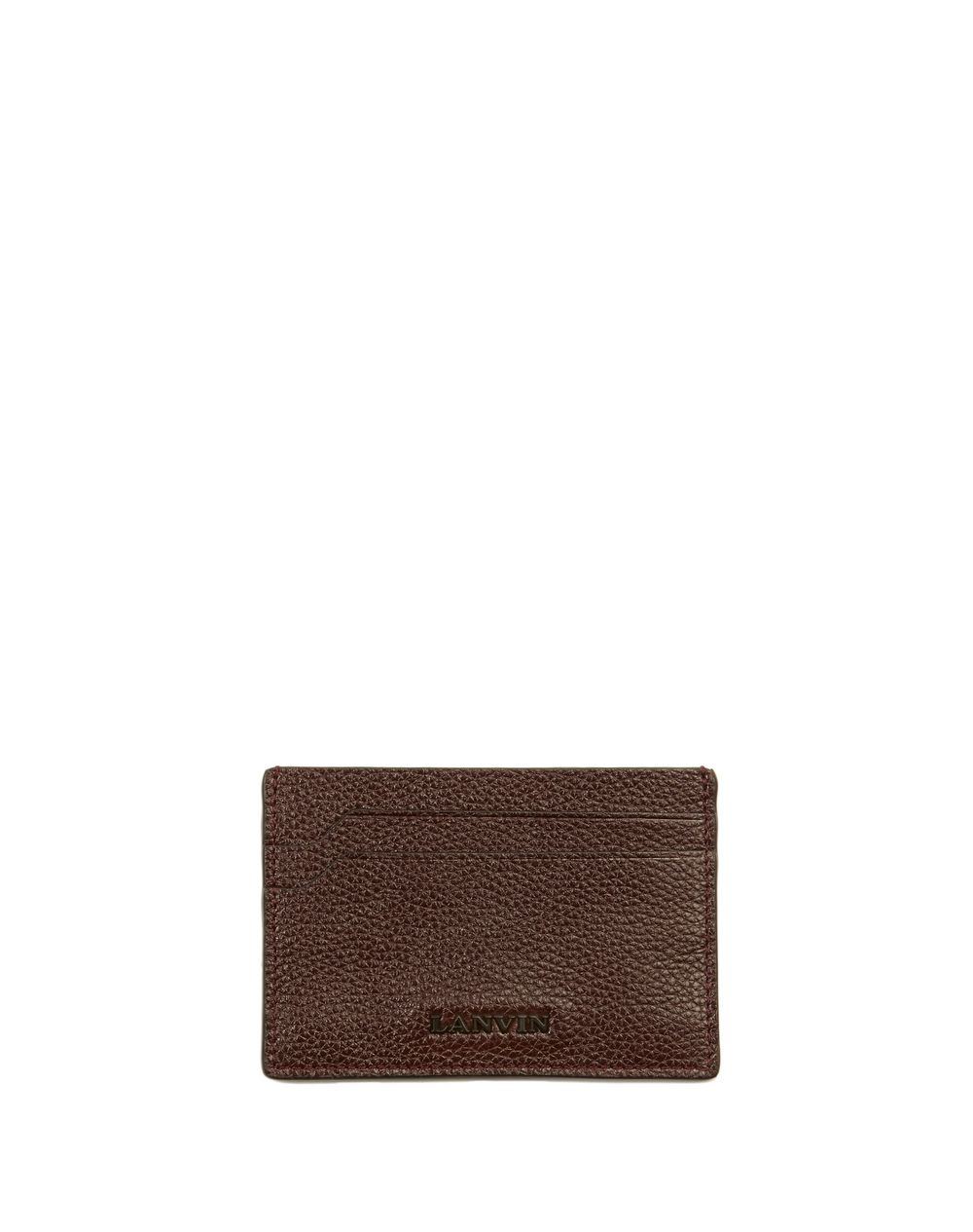 GRAINED CALFSKIN CARD HOLDER - Lanvin