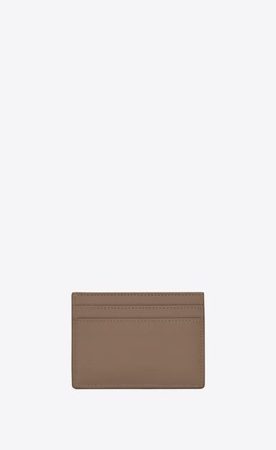 SAINT LAURENT YSL line D Porta carte YSL in pelle color talpa b_V4
