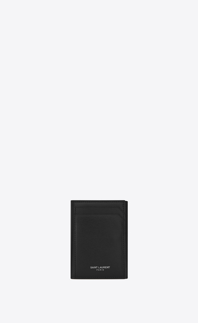 SAINT LAURENT Fragments Small Leather Goods D FRAGMENTS Key Case in Black Leather a_V4