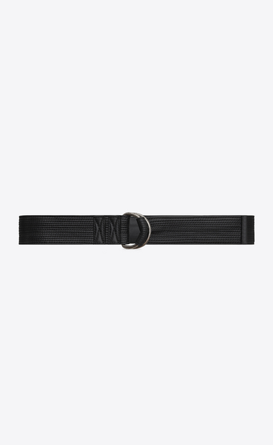 SAINT LAURENT Ceintures exclusives D Ceinture à coutures HARNESS en cuir noir a_V4