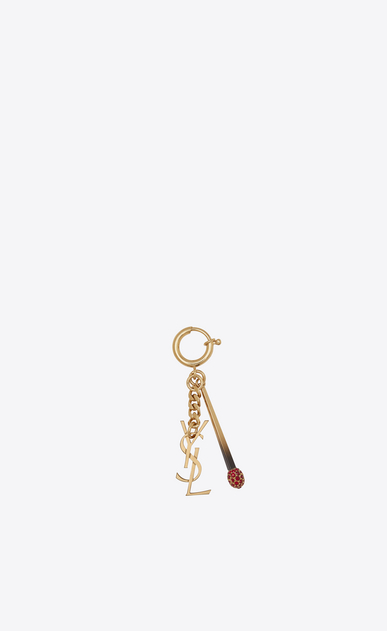 SAINT LAURENT Key Ring D YSL and Match Key Ring in Light Bronze Metal a_V4