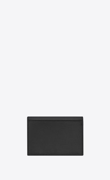 SAINT LAURENT Fragments Small Leather Goods Woman FRAGMENTS Credit Card Case in Black Leather b_V4