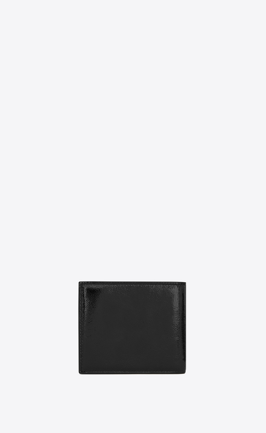 SAINT LAURENT Monogram SLG U Monogram Saint Laurent East/West Portemonnaie aus schwarzem Lackleder b_V4