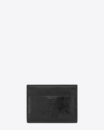 SAINT LAURENT Monogram SLG U MONOGRAM SAINT LAURENT Credit Card Case in Black Patent Leather f