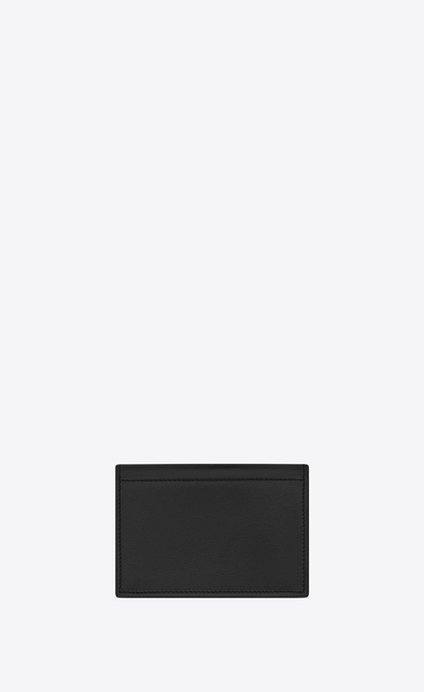 SAINT LAURENT Fragments Small Leather Goods U FRAGMENTS Business Card Case in Black Leather and Shiny Trim b_V4