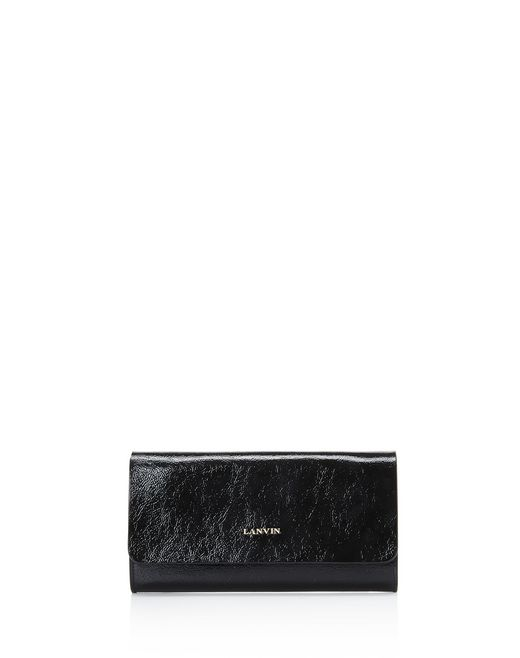 lanvin flap clutch women
