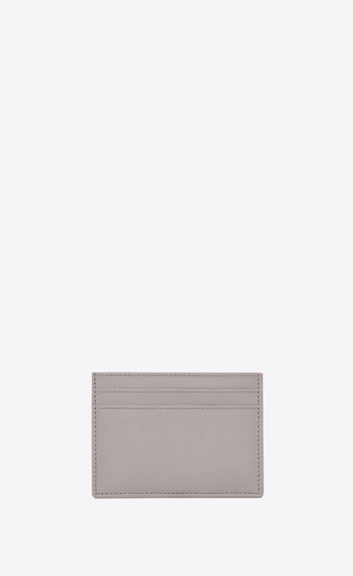 SAINT LAURENT YSL line D YSL card case in mouse-gray leather b_V4