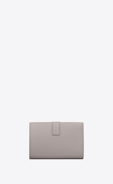 SAINT LAURENT YSL line Woman ysl key ring in mouse-gray leather b_V4