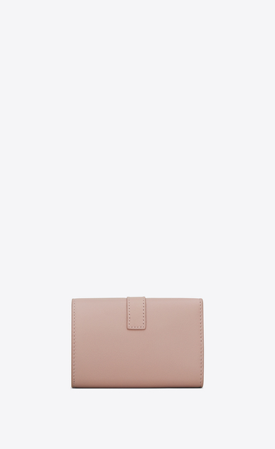 SAINT LAURENT YSL line Woman ysl key ring in powder pink leather b_V4