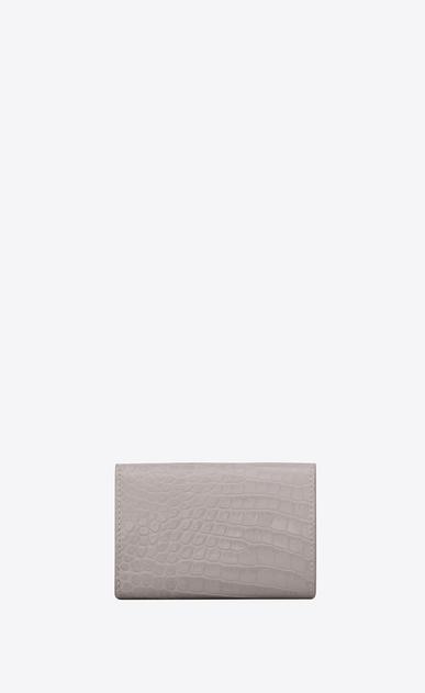 SAINT LAURENT Saint Laurent Paris SLG Damen petite saint laurent paris portemonnaie aus mausgrauem glanzleder mit krokodilledergravur b_V4