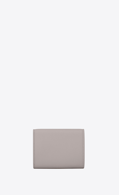 SAINT LAURENT YSL line D Small YSL wallet in mouse-gray leather b_V4