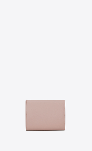 SAINT LAURENT YSL line D Small YSL wallet in powder pink leather b_V4