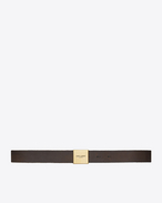SAINT LAURENT Medium Belt D BELLECHASSE SAINT LAURENT belt in dark brown vintage leather f