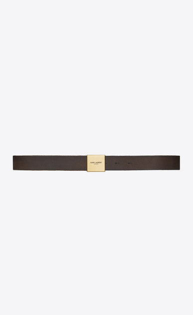 SAINT LAURENT Medium Belt Woman BELLECHASSE SAINT LAURENT belt in dark brown vintage leather a_V4