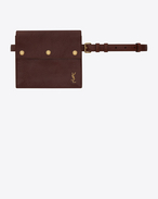 SAINT LAURENT Belt Bags D NOÉ Saint Laurent belt with pouch in shiny cognac leather f