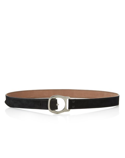 lanvin suede calfskin belt men