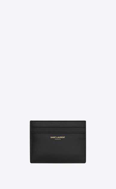SAINT LAURENT Saint Laurent Paris SLG Man saint laurent paris card case in black leather a_V4