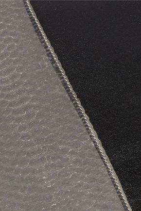 RICK OWENS Large paneled snake and leather pouch