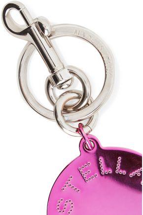 STELLA McCARTNEY Metallic silver-tone enamel keychain