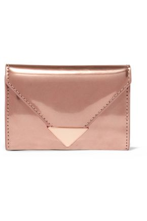 ALEXANDER WANG Prisma metallic glossed-leather wallet