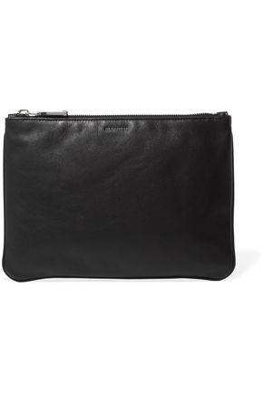 JIL SANDER Textured-leather pouch