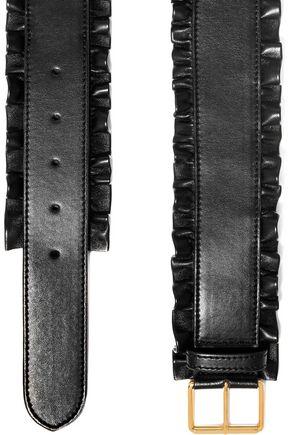 STELLA McCARTNEY Ruffled faux leather belt