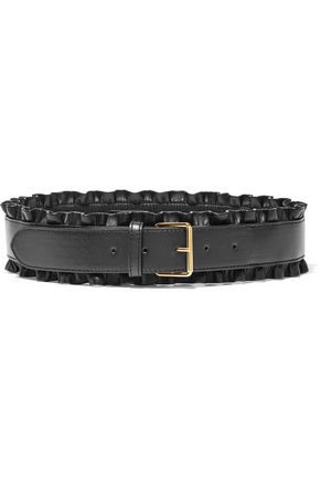 STELLA McCARTNEY Ruffled faux leather belt