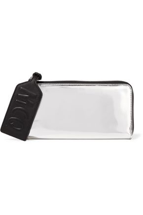 McQ Alexander McQueen Metallic patent-leather wallet