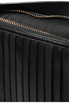 DKNY Paneled pleated leather clutch