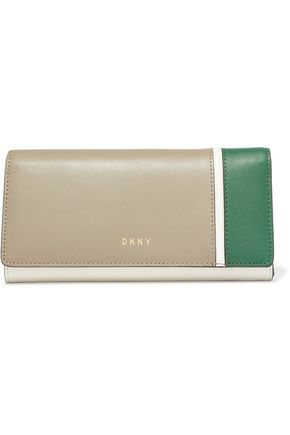 DKNY Color-block leather wallet
