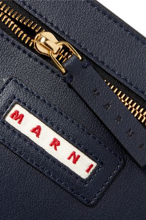 MARNI Textured-leather pouch