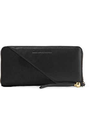 DIANE VON FURSTENBERG Calf hair-paneled leather wallet