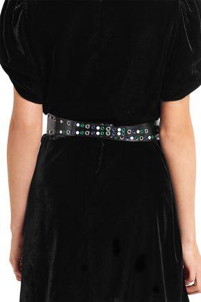 ISABEL MARANT Studded eyelet-embellished leather belt