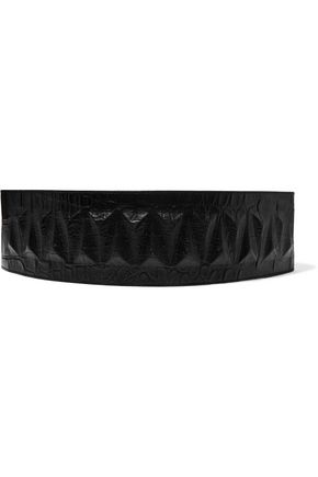 GIVENCHY Snake-effect leather waist belt