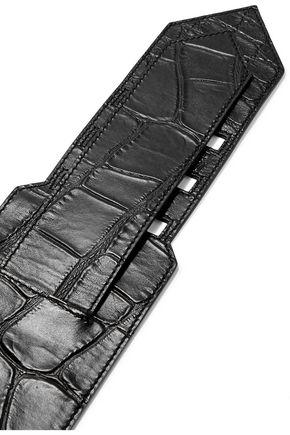GIVENCHY Snake-effect leather waist belt
