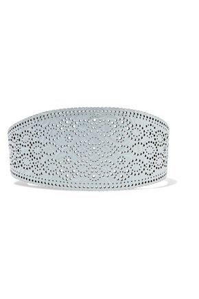 ZIMMERMANN Filigree embossed laser-cut leather waist belt