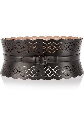 ALAÏA Arabesque laser-cut leather waist belt