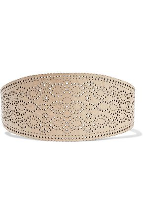 ZIMMERMANN Filigree embossed laser-cut leather belt