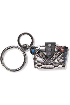 KENZO Snake-effect leather key wallet