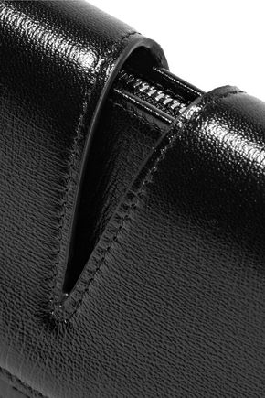 JIL SANDER Cutout textured-leather wallet