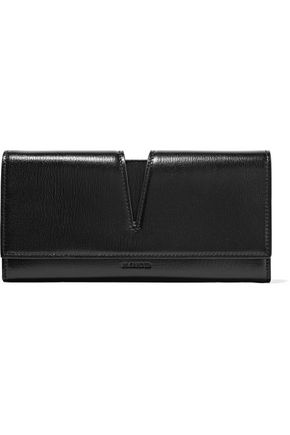 JIL SANDER Cutout textured-leather wallet