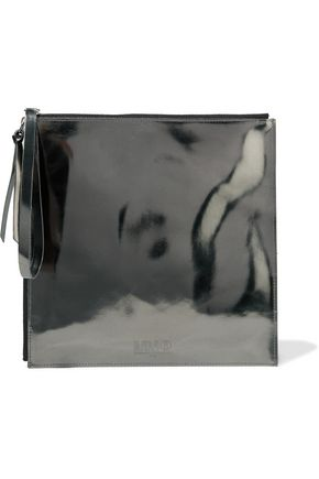 MM6 by MAISON MARGIELA Embossed metallic faux leather pouch