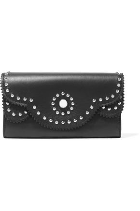 SANDRO Alana studded leather wallet