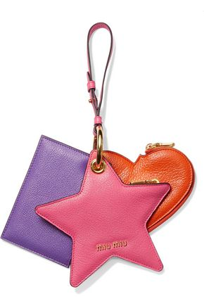 MIU MIU Set of three textured-leather coin purses